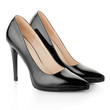Black elegant shoes for woman on white, clipping path - 79704102