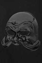 Carnival glossy black mask on black, clipping path