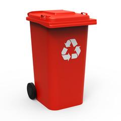 Mülltonne rot