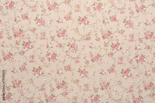 Tapestry with rose floral, romantic texture background - 79704313