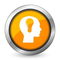 head orange icon human head sign