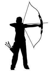 Silhueta - Tiro com arco