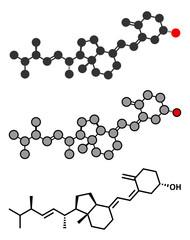 Ergocalciferol (vitamin D2) molecule.