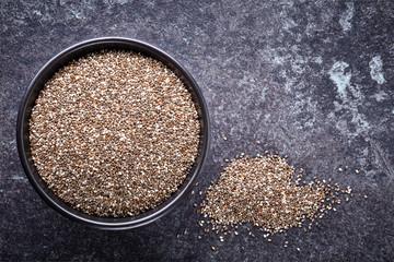 bowl of chia seeds