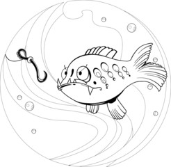cartoon fishing