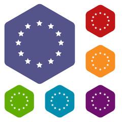 European Union rhombus icons