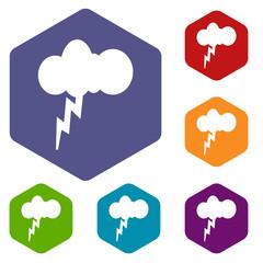 Storm rhombus icons