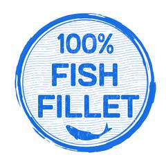 Fish fillet stamp