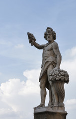 Statue of Autumn, or Bacchus in Holy Trinity Bridge, Florence