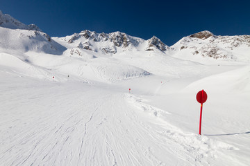 Winter ski resort Stubai, Austria