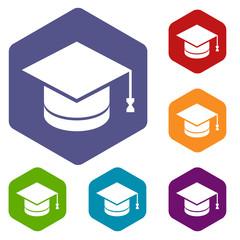 Knowledge rhombus icons