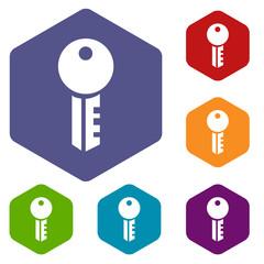 Key rhombus icons