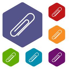 Clip rhombus icons