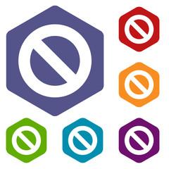 Ban rhombus icons