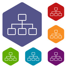 Structure rhombus icons