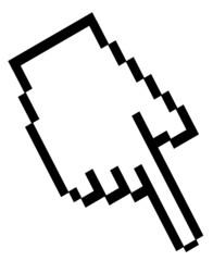 Hand Pixel Button  #150312-05