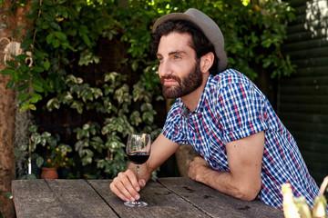 red wine man