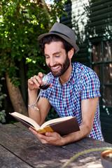 man book relaxing outdoors