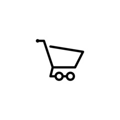 Shopping Cart Trendy Thin Line Icon