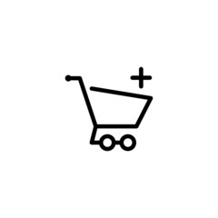 Add To Cart Trendy Thin Line Icon