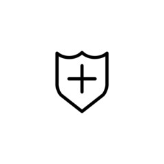 Shield Trendy Thin Line Icon