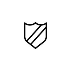 Shield Trendy Thin Line Icon