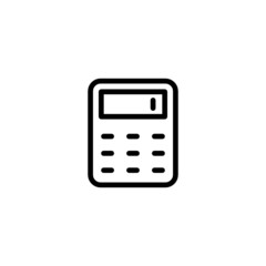 Calculator Trendy Thin Line Icon