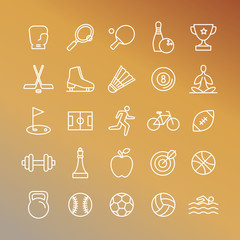 Vector sport linear icons