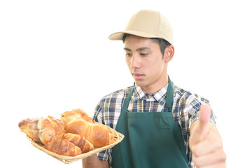 笑顔のパン職人
