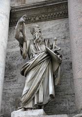Statue de St Paul par Francesco Mochi porte du Peuple à Rome
