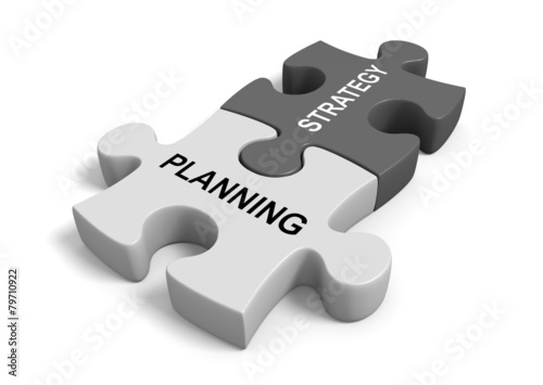 Combining planning with strategy for a successful business goal - 79710922
