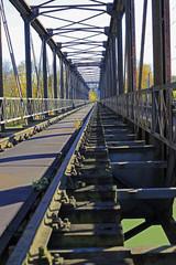 Denkmalschutz Fachwerk: Braunauer Brücke über die Isar