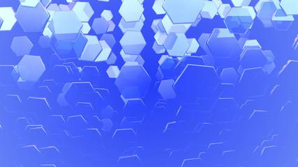 blue glass hexagons background