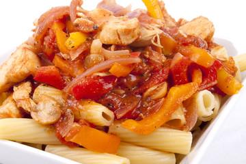 Rigatoni with Chicken Arrabbiata Sauce