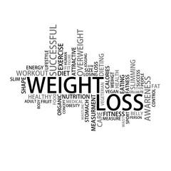 Weight loss Tag Cloud, vector