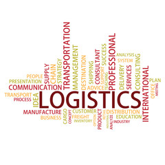 Logistics Tag Cloud, vector