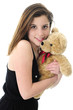 Teddy-Hugging Teen
