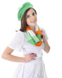 Smiling Teen in Irish Colors