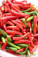 fresh chili peppers for cooking