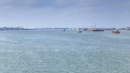 Ships in Chao Praya River