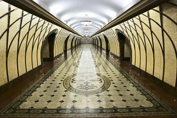 Modern walkway interior subway in Almaty
