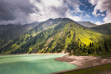 landscape mountain  lake in Central Asia