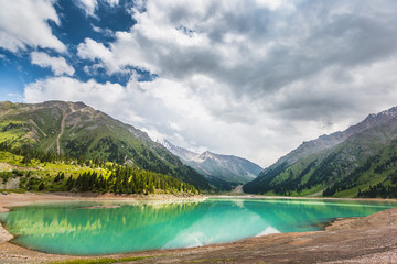 mountain  lake in Central Asia