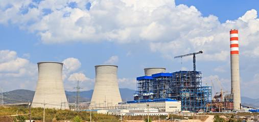 Lignite power plant under construction