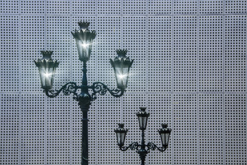 old street lamp and lights