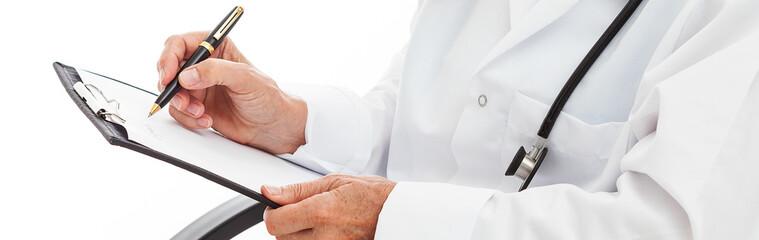 Doctor's hands noting