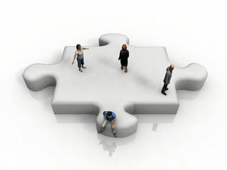the puzzle piece and people