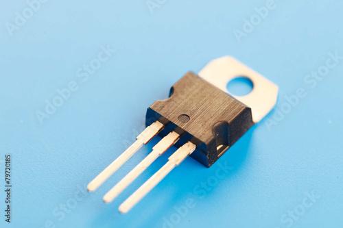 Leinwanddruck Bild semiconductor transistor