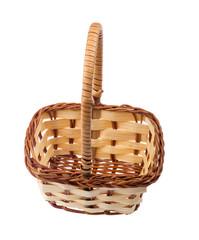 light basket on white
