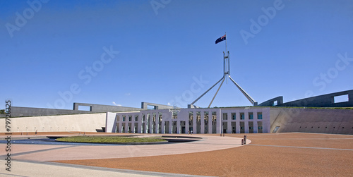 Poster Oceanië Parliament of Australia Building in Canberra